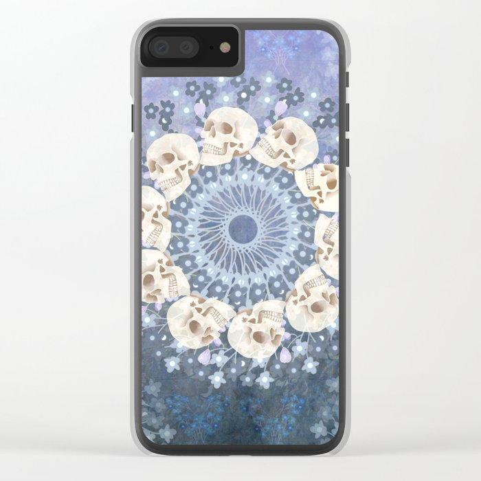 Skull Mandala 2 Clear iPhone Case