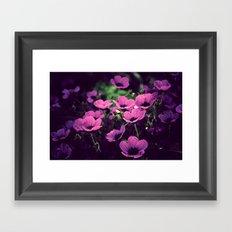 A purple evening Framed Art Print