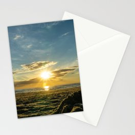 Sunset North Sea Denmark Bjerregard Beach Stationery Cards