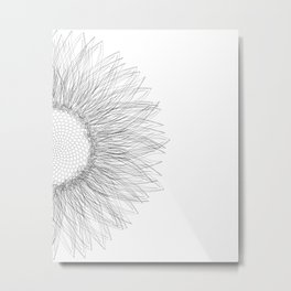 Sunflower sketch Metal Print