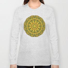 Sunflowers, Floral mandala-style, Flower Mandala Long Sleeve T-shirt