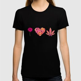 i Heart Pot Leaf T-shirt