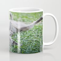 pit bull Mugs featuring Pit Bull Puppy by Paw Prints By Jamie