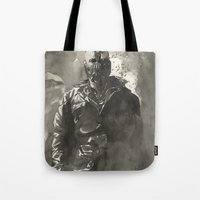 bane Tote Bags featuring TDKR-bane by Shijie&Yuyu
