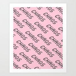 Chaos Pattern Art Print