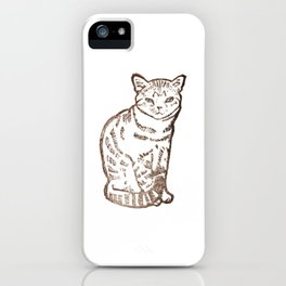 cat stamp hand made iPhone Case