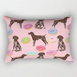German Shorthair Pointer pink donuts dog breed art work pet portrait dog art furry fur baby Rectangular Pillow