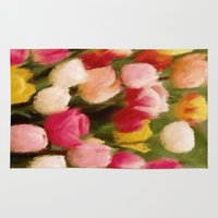 tulips Area & Throw Rugs featuring *Tulips* by Mr and Mrs Quirynen