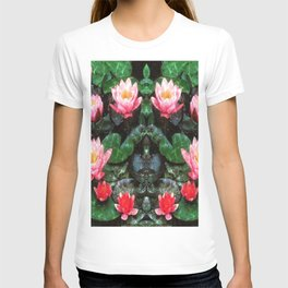 Mirrored Water Lilies T-shirt