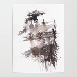 Bondage- 151124  Abstract Watercolour Poster