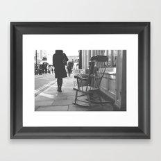 The rocking chair Framed Art Print