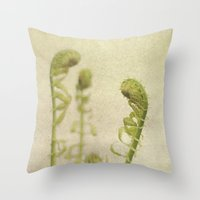 fern Throw Pillows featuring Fern by Pure Nature Photos