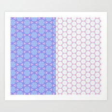 Two Patterns Art Print