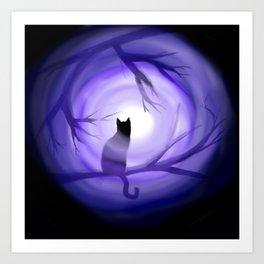 Thru Violet Mist Art Print