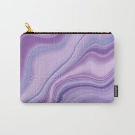 Liquid Unicorn Agate Dream #1 #pastel #decor #art #society6 Carry-All Pouch