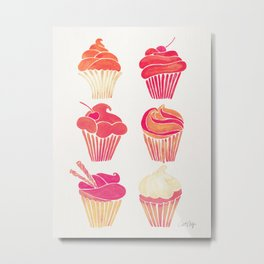 Cupcake Collection – Pink & Cream Palette Metal Print