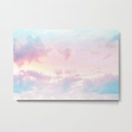 Unicorn Pastel Clouds #2 #decor #art #society6 Metal Print