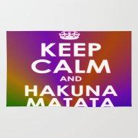 hakuna Area & Throw Rugs featuring hakuna matata by  Alexia Miles photography