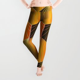 Glam Rock Orange Leggings