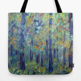 Impressionism Landscape Tree Forest, Rustic Art Home Decor Tote Bag