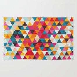 Vintage Summer Color Palette - Hipster Geometric Triangle Pattern Rug