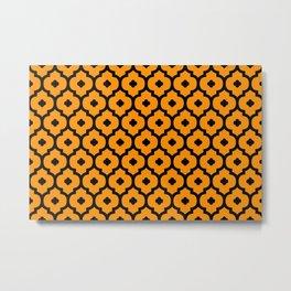Ornament pattern morden - orange Metal Print