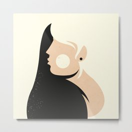 Woman ... Metal Print