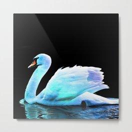 Swan Fantasy Metal Print