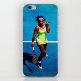 Serena Williams Tennis Celebrating iPhone Skin