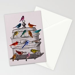 Bird cage Stationery Cards