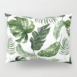 Tropical Leaf Pillow Sham