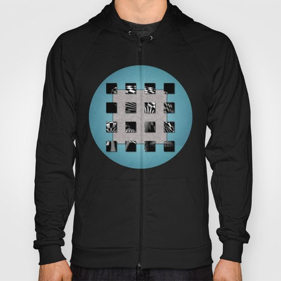SQUARE AMBIENCE - Blue Sports Hoody