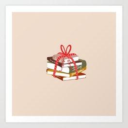 Jane Austen Book Pile Art Print