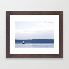 With The Sea Framed Art Print