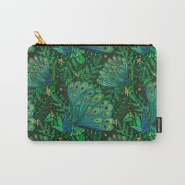 Peacocks in Emerald Forest Carry-All Pouch