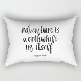 PRINTABLE Art Amelia Earhart,Adventure Time,Travel Gifts,Travel Poster,Adventure Awaits,Inspired Rectangular Pillow