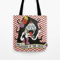marceline Tote Bags featuring Muertos Marceline by Jade Boylan