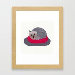 Yorkie Donut Framed Art Print