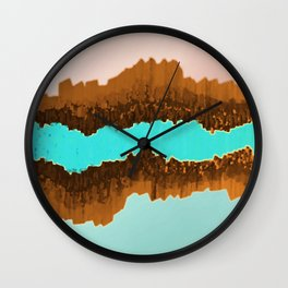 Native American Turquoise & Copper River Wall Clock