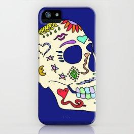 Sugar Skull Side iPhone Case
