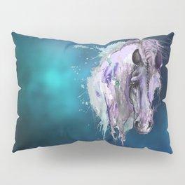Purple Horse Pillow Sham