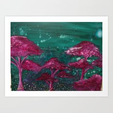 Fireflies and Will o' Wisps Art Print