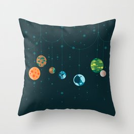 Seven Planets Throw Pillow
