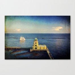 Biloxi Schooner and Lighthouse Canvas Print