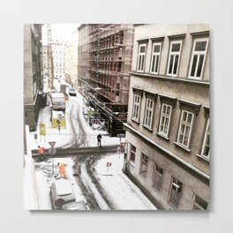 Architecture of Snow - An Austrian Winter Metal Print