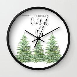 Comfort and Joy Wall Clock