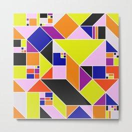 Sunset Mosaic - Geometric Abstract Metal Print