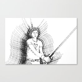 Scott Pilgrim VS. Typography Canvas Print