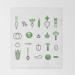 Vegetables set Throw Blanket