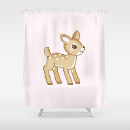 Pastel Fawn Shower Curtain